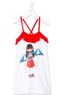 Little Marc Jacobs Vestido Com Estampa Cartoon - Branco