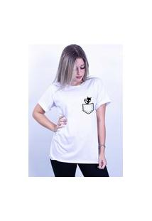 Camiseta Corte A Fio Bilhan Et Bolso Branca