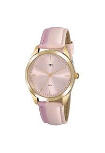 Kit De Relógio Analógico Mondaine Feminino + Pulseira - 53871Lpmgdh1K Dourado