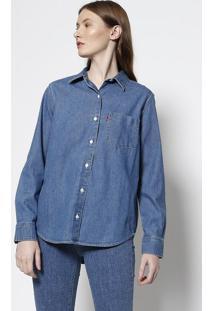 Camisa Boyfriend Fit- Azullevi S 800a80ff29f