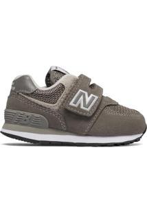 Tênis Bebê New Balance 574 Masculino - Masculino-Cinza