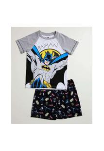Pijama Infantil Estampa Batman Liga Da Justiça Tam 4 A 10