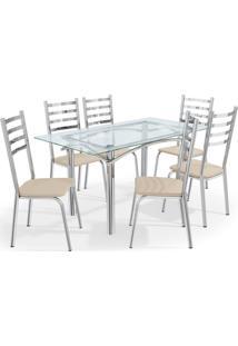 Conjunto Mesa Elba C/ 6 Cadeiras Alemanha Cromado/ Kappesberg - - Dafiti