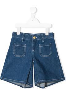 Chloé Kids Short Jeans - Azul