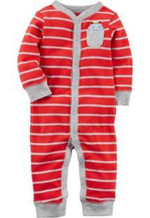 Pijama Bebê Carter'S Manga Longa Sem Pezinho Robot Hiding Masculino - Masculino-Vermelho