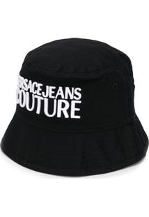 Versace Jeans Couture Chapéu Com Logo Bordado - Preto