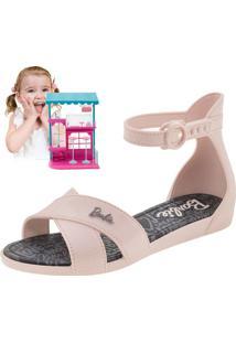 f16816ca7b Sandália Infantil Feminina Barbie Confeitaria Rosa Grendene Kids - 21921