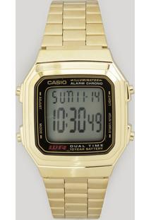 Relógio Digital Casio Feminino - A178Wga1Adfu Dourado - Único