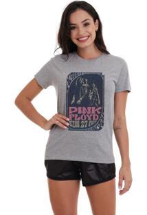 Camiseta Basica Joss Pink Floyd Mothers Cinza Mescla