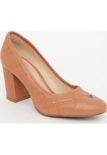 Sapato Em Couro Matelassê- Rosê- Salto: 8Cmcapodarte