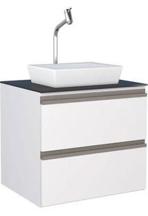Gabinete Para Banheiro 60Cm Aço Gaia Branco Sem Cuba 60X54,8X43,4Cm - Cozimax - Cozimax