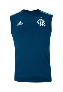 Camiseta Regata De Treino Do Flamengo 2020 Adidas - Masculina - Azul Escuro