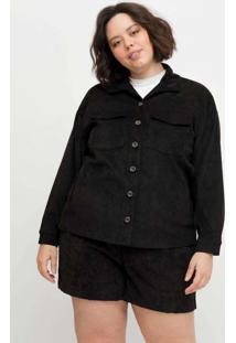 Camisa Ampla Almaria Plus Size Tal Qual Veludo Cot