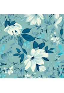 Papel De Parede Floral- Verde Água & Verde Escuro- 3Jmi Decor