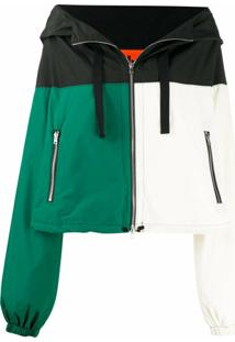 Colville Colour-Block Hooded Jacket - Branco