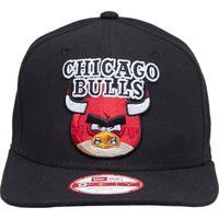 Boné New Era 950 Of Snap Angry Birds Chicago Bulls Blk Preto 802f8e48b46