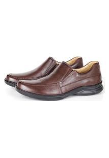 Sapato Social Comfort Savelli Masculino Couro Leve Conforto Marrom 37
