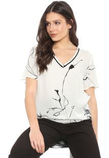 Camiseta Forum Estampada Branca/Preta