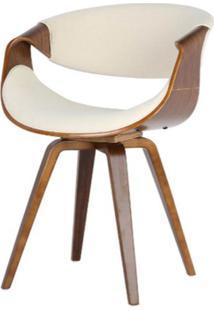 Cadeira Nicole Tecido Linho Cor Bege - 31699 - Sun House