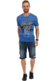 Bermuda Dioxes Jeans Cintura Média Masculina - Masculino