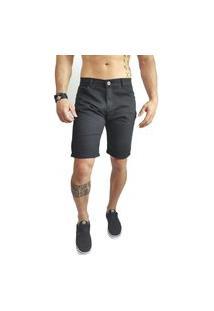 Bermuda Jeans Masculina Preta Zor