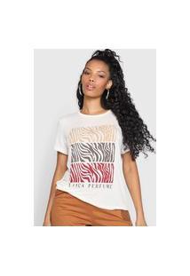 Camiseta Lança Perfume Zebra Off-White