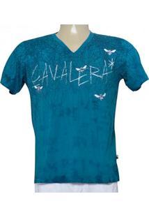 285cd6866 Camiseta Masc Cavalera Clothing 01.01.9274 Azul Petroleo
