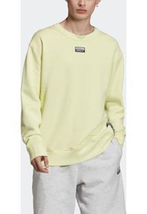 Blusão E Jaqueta Adidas D-R.Y.V. Crew Amarelo