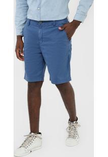 Bermuda Sarja Ellus Chino Color Azul - Kanui