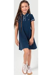 Vestido Infantil Menina Com Gola Polo - Tal Pai Tal Filha Hering Kids