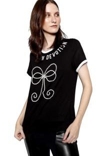 Camiseta Manga Curta Energia Fashion Preto