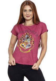 Camiseta Sideway Harry Potter Logo - Vinho