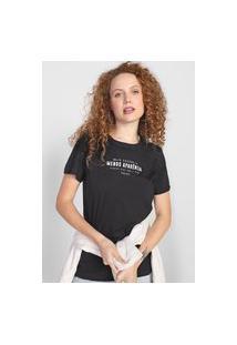 Camiseta Colcci Mais Essência Preta