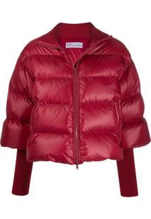 Red Valentino Jaqueta Matelassê De Jersey - Vermelho