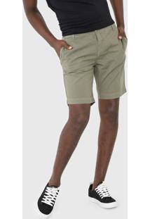 Bermuda Sarja Calvin Klein Jeans Chino Bolsos Verde