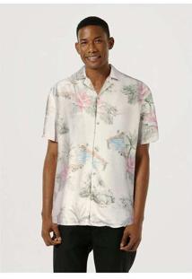 Camisa Manga Curta Masculina Em Tecido De Linho Ta