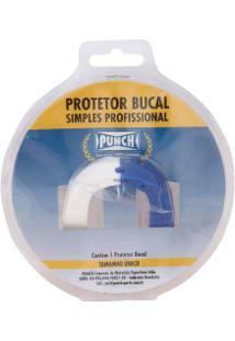 Protetor Bucal Punch Dual Color - Adulto - Branco/Azul
