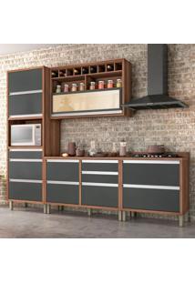 Cozinha Baronesa Completa - 4 Peças - 500247 - Grafite - Nesher