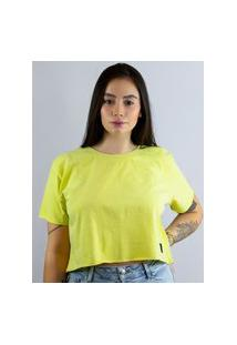 Camiseta Cropped Toneh Sem Barra Verde Verde