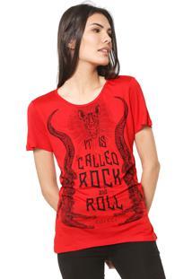 Camisete Colcci Estampada Vermelha