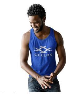 Regata Cellos Horns Premium Masculina - Masculino-Azul Royal