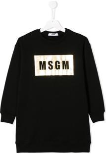 Msgm Kids Vestido Casual - Preto