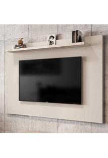 Painel Para Tv Até 50 Polegadas 1 Prateleira Kenzo 2075327 Off White - Bechara Móveis
