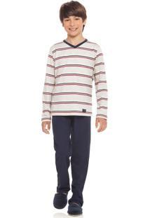 Pijama Adriano Infantil Azul/08