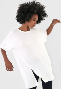 Camiseta Triton Alongada Off-White