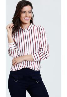 Camisa Feminina Manga Longa Listrada Marisa