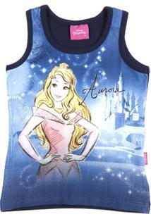 Blusa Regata Disney Infantil Para Menina - Azul Marinho - Feminino 1c8d1514f9f81