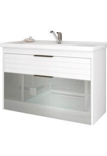 Gabinete Suspenso Para Banheiro Azaléia 56X79,3Cm Branco