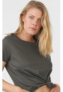 Camiseta Hering Lisa Verde - Verde - Feminino - Algodã£O - Dafiti