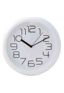 Relógio De Parede Redondo Sortido - 31Cm - Números Grandes Branco